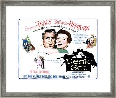 The Desk Set, Spencer Tracy, Katharine Framed Print by Everett