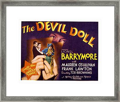 The Devil Doll, Frank Lawton, Maureen Framed Print