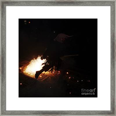 The Devil Of The Stairs Framed Print