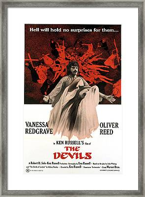 The Devils, Oliver Reed Back, Vanessa Framed Print by Everett