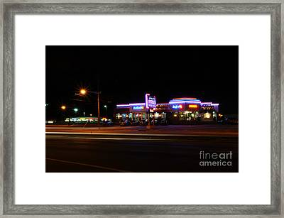 The Diner At Night Framed Print