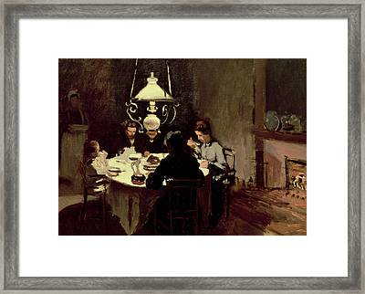 The Dinner Framed Print