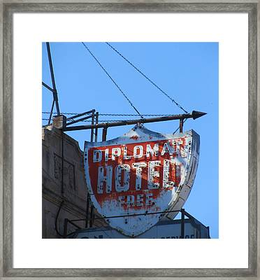 The Diplomat Hotel Chicago Framed Print by Todd Sherlock