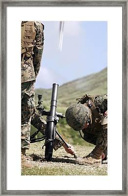 The Direct-lay Method Of Firing Mortars Framed Print by Stocktrek Images