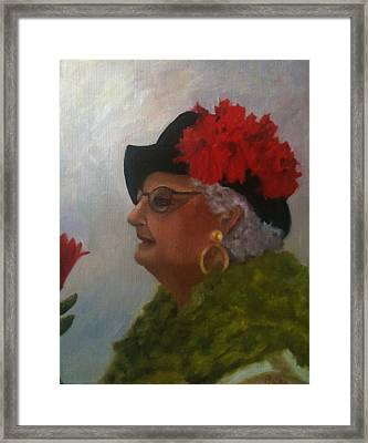 The Diva Framed Print by Betty Pimm