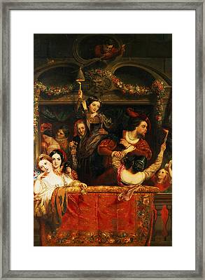 The Diversion Of The Moccoletti The Last Gay Madness Of The Carnival Framed Print by Robert McInnes