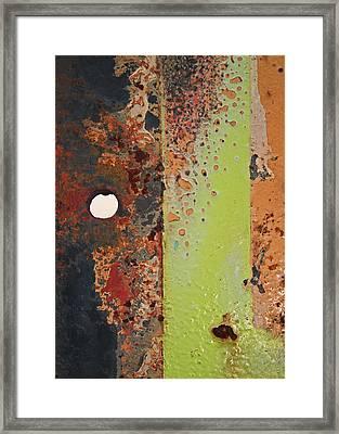 The Dividing Line Framed Print by Camera Rustica Bill Kerr