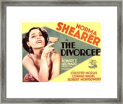 The Divorcee, Norma Shearer, 1930 Framed Print