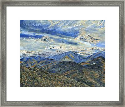 The Dix Range From Giant Peak Framed Print