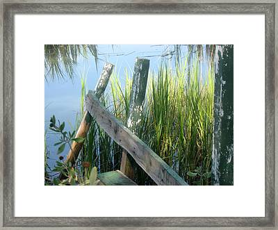 The Dock Framed Print by Juliana  Blessington