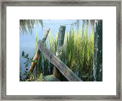 The Dock Framed Print by Juliana  Blessington