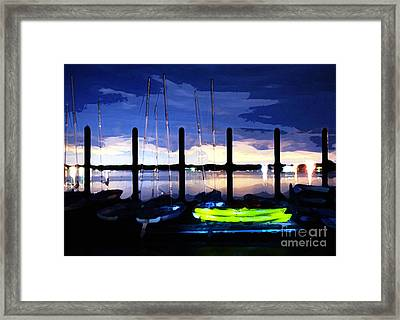 The Dock On The Bay Framed Print by Paul Ward