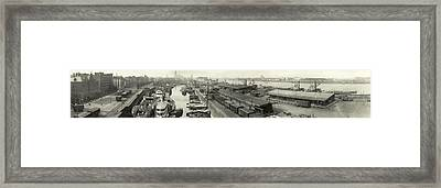 The Docks At Cologne - Germany - C. 1921 Framed Print by International  Images