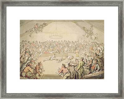 The Dog Fight Framed Print