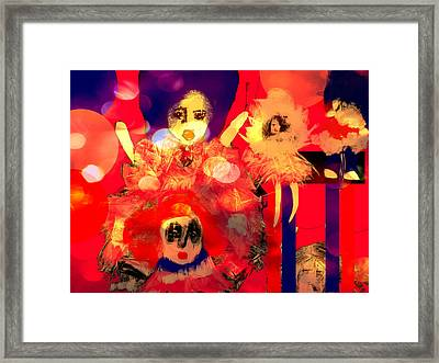 Framed Print featuring the digital art The Dolls Are Out by Rc Rcd