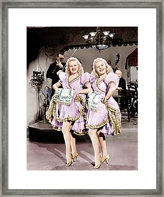 The Dolly Sisters, From Left Betty Framed Print by Everett