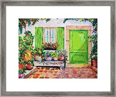 The Door Framed Print by Cristina Gosserez