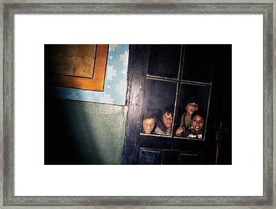 The Door That Never Opens Framed Print by Emanuel Tanjala