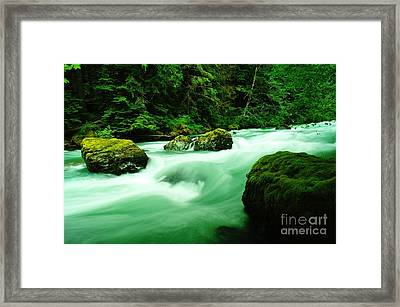 The Dosewallups River  Framed Print by Jeff Swan