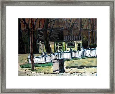 The Doug House Framed Print by Charlie Spear