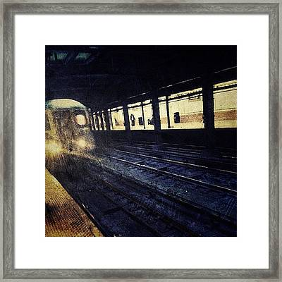 The Downtown Train Framed Print