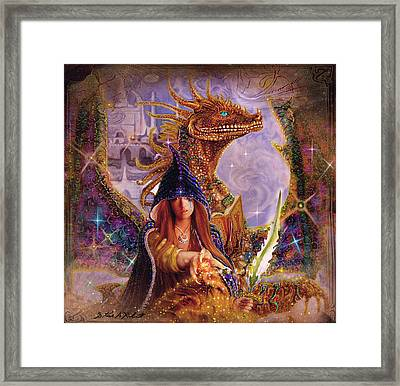Framed Print featuring the painting The Dragon Master by Steve Roberts