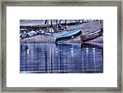 Framed Print featuring the photograph The Dramatic Canoe Scene by Janie Johnson