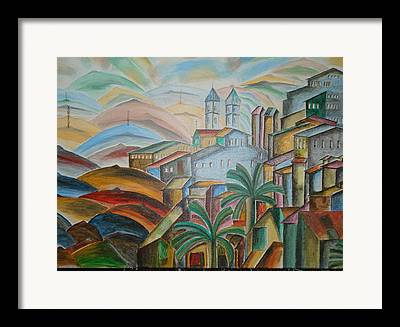 The Plateaus Mixed Media Framed Prints