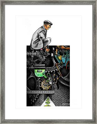 The Dream Machine Framed Print by Spencer Bower