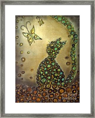 The Dreaming Cat Le Chat Reveur Framed Print by Rosemary Lim