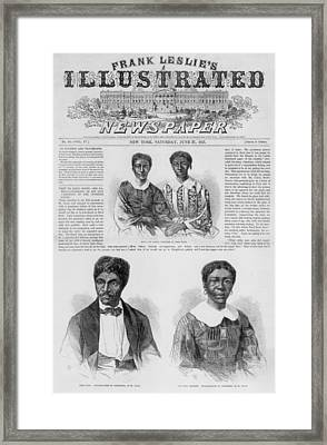 The Dred Scott Family On The Front Page Framed Print by Everett