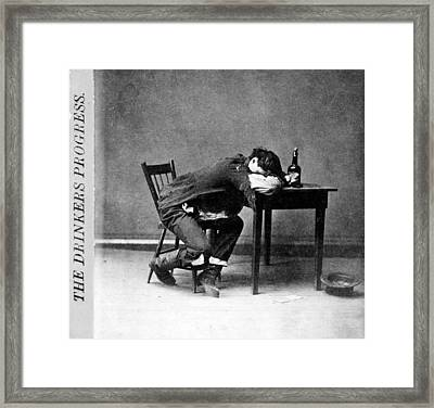 The Drinkers Progress He Is Cleaned Framed Print by Everett
