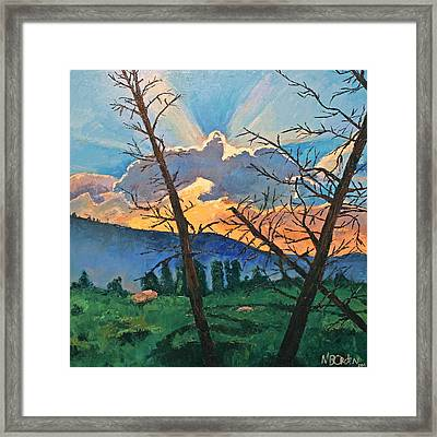 The Drive Home Framed Print by Missy Borden