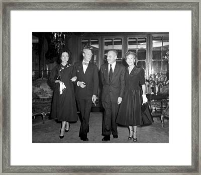 The Duke And Duchess Of Windsor Framed Print by Everett