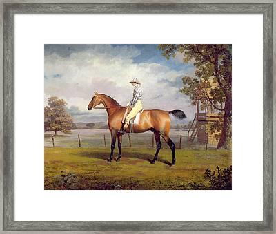 The Duke Of Hamilton's Disguise With Jockey Up Framed Print by George Garrard