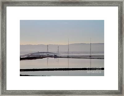 The Dumbarton Bridge In The Bay Area Viewed Through Coyote Hills California . 7d10961 Framed Print by Wingsdomain Art and Photography