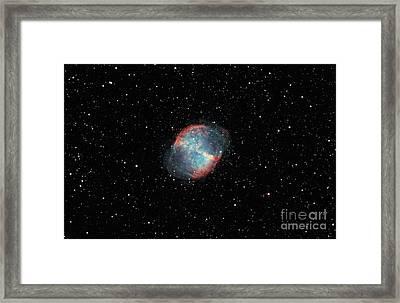 The Dumbbell Nebula Framed Print by Rolf Geissinger