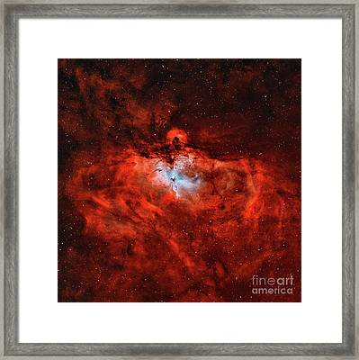 The Eagle Nebula In The Constellation Framed Print by Rolf Geissinger