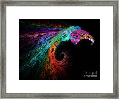 The Eagle Rainbow Framed Print by Andee Design