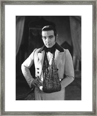 The Eagle, Rudolph Valentino, On-set Framed Print by Everett