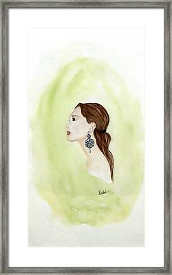 Framed Print featuring the painting The Earring by Alethea McKee