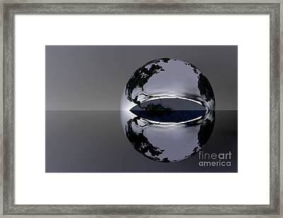 The Earth Reflection Framed Print by Odon Czintos