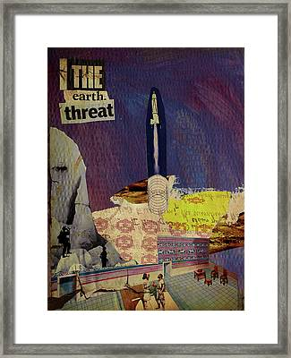 The Earth Threat Framed Print by Adam Kissel