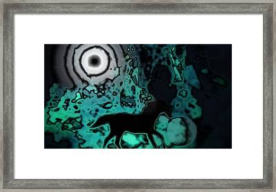 Framed Print featuring the photograph The Eclipsed Horse by Jessica Shelton