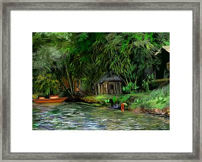 The Eco Village Framed Print