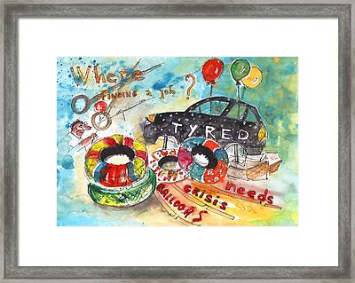 The Economical Crisis In Crete Framed Print by Miki De Goodaboom