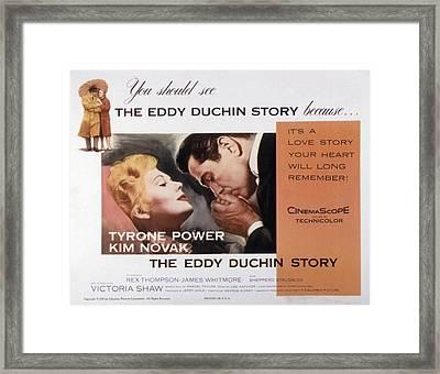 The Eddy Duchin Story, Kim Novak Framed Print by Everett
