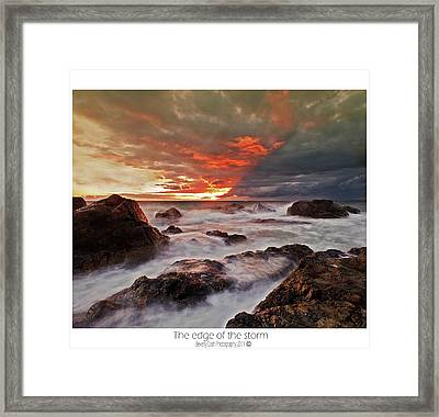 The Edge Of The Storm Framed Print