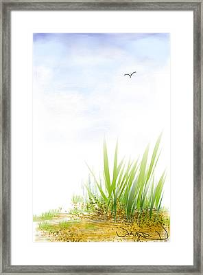 Framed Print featuring the digital art The Edge by Wayne Pascall