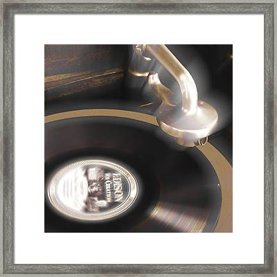 The Edison Record Player Framed Print